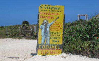 Freedom In Paradise, Reggae Beach Bar – Cozumel, Mexico.