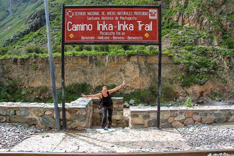 Start of the Inka Trail sign