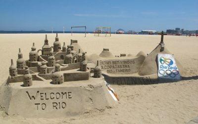 Strandkonst på Copacabana!