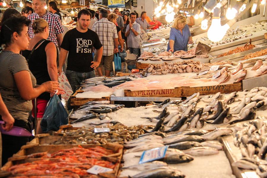 Athens fishmarket