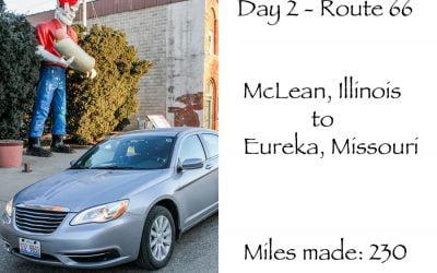 Route 66 day 2 – McLean Illinois – Eureka Missouri