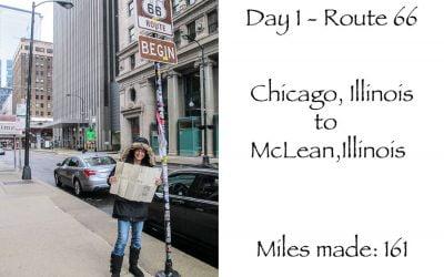 Route 66 day 1 – Chicago Illinois – McLean Illinois