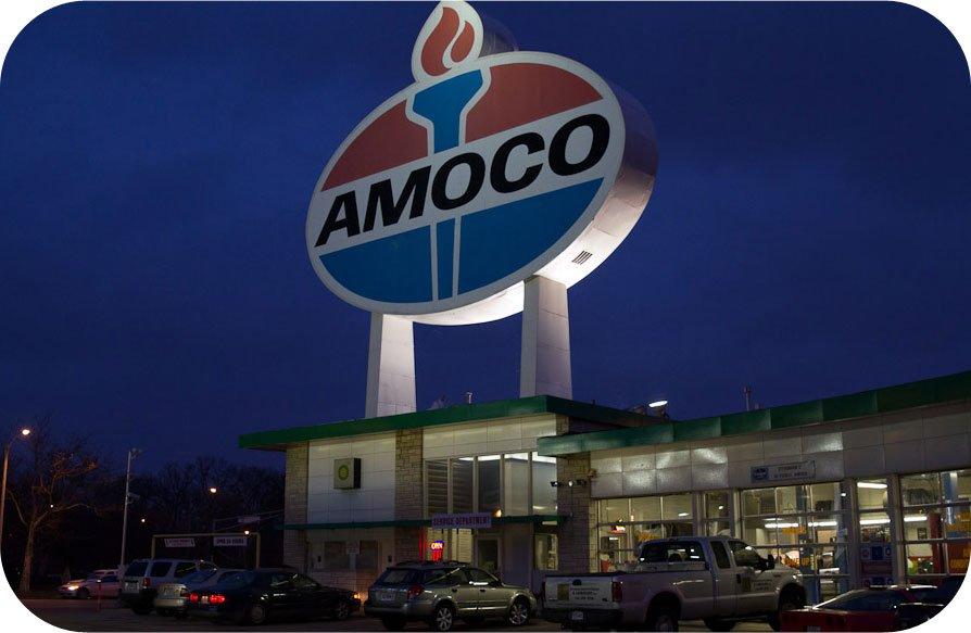 Amoco-sign
