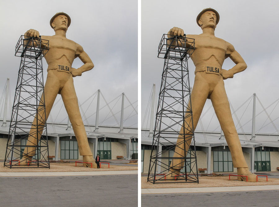 Giants on Route 66: The Golden Driller in Tulsa!