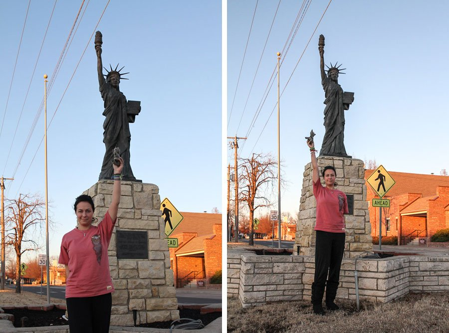 NON-Giant on Route 66: Statue Of Liberty!