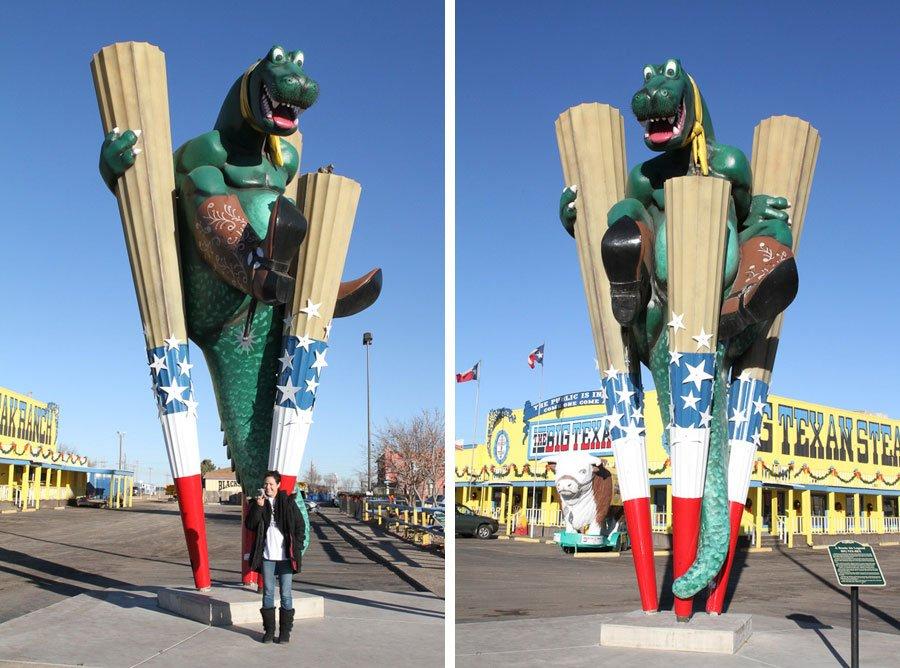 Giants on Route 66: Big T-Rex & Bull