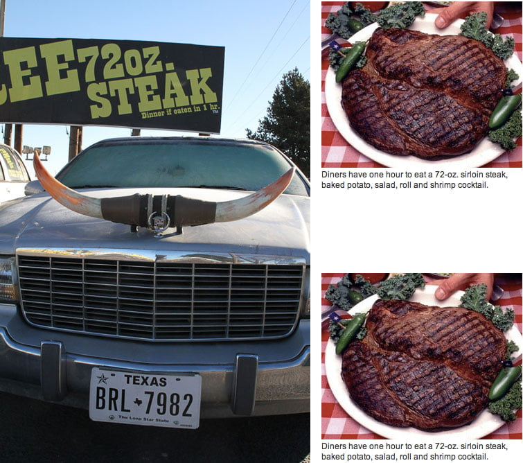 "The Big Texan Steak Ranch - Home of the ""Free 72 Oz Steak Dinner"""