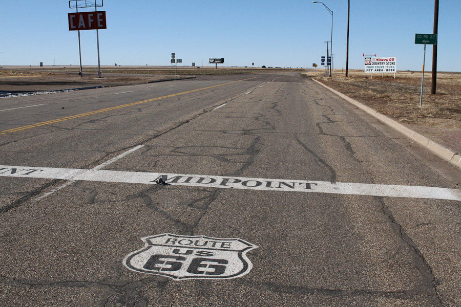 Midpoint of Route 66 in Adrian