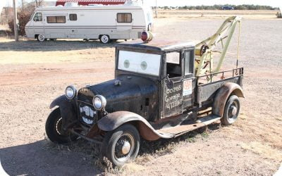 Outside Bozos Garage – cute car!