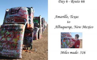 Route 66 day 6  – Amarillo, Texas to Albuquerqe, New Mexico