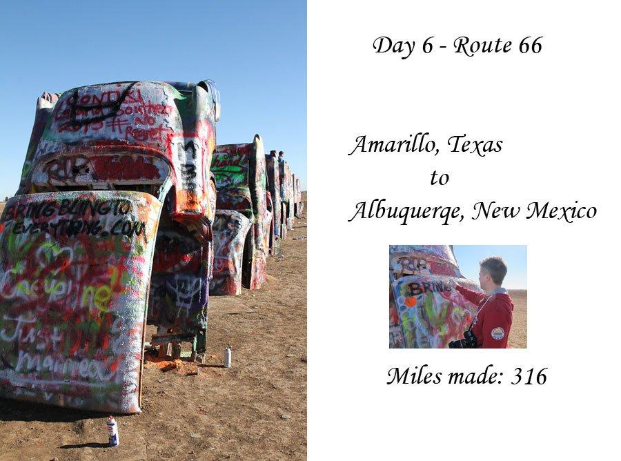 Route 66 day 6  - Amarillo, Texas to Albuquerqe, New Mexico