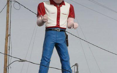 Giants along Route 66: Cowboy Muffler Man, New Mexico