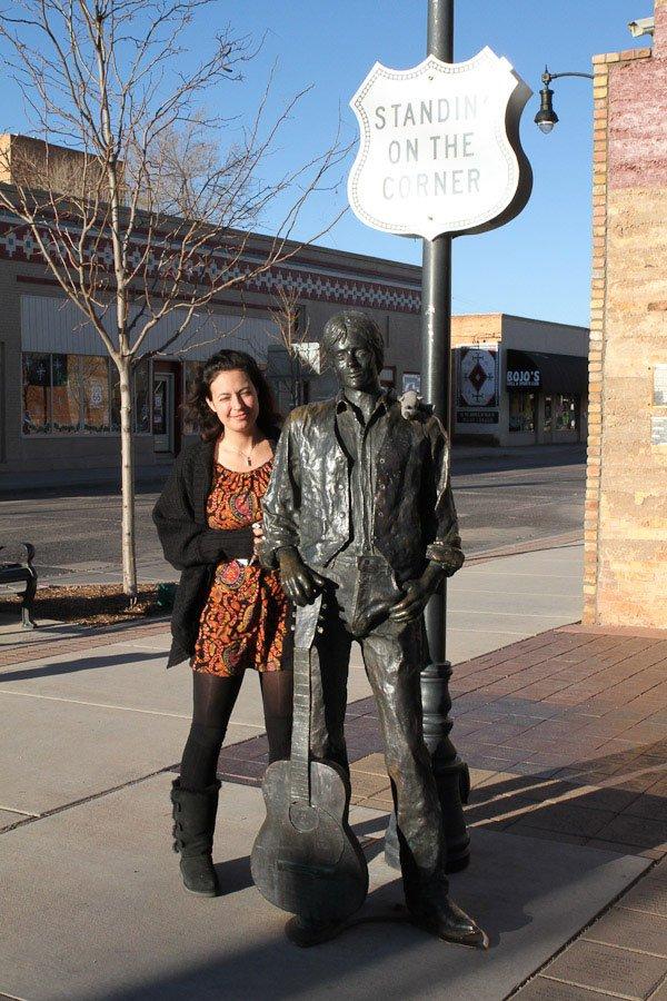 Standing on the corner in Winslow, Arizona