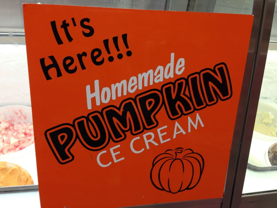 Bucket List - Bennett's Ice Cream - Pumpkin Ice Cream!