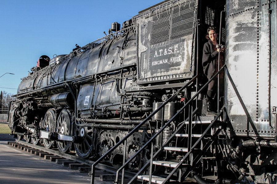 Locomotive park in Kingman, Arizona