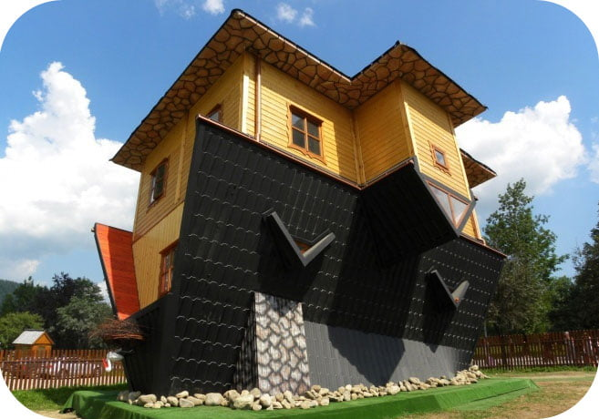 Dom do góry nogami - The upside down house - Zakopane, Poland