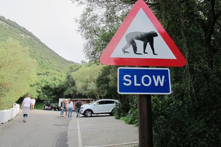 sign at Gibraltar rock