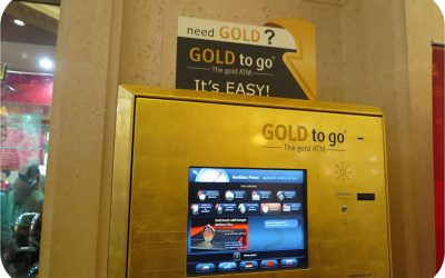 """Only in Dubai – Gold """"to go"""""""