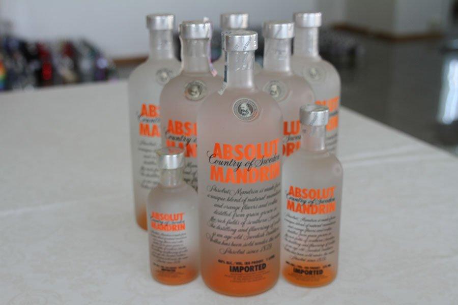 Absolut Mandrin 6 x 1 liter & 1 x 0,375 liter & 1 x 0,2 liter