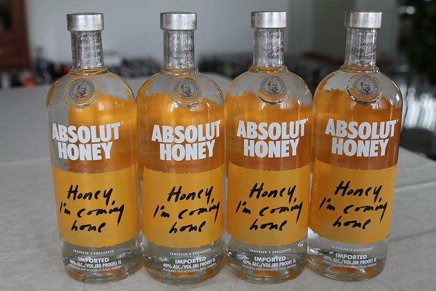 Absolut Honey 4 x 1 liter