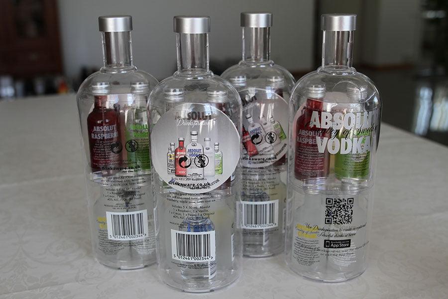 Absolut Drinkspiration 4 x bottles
