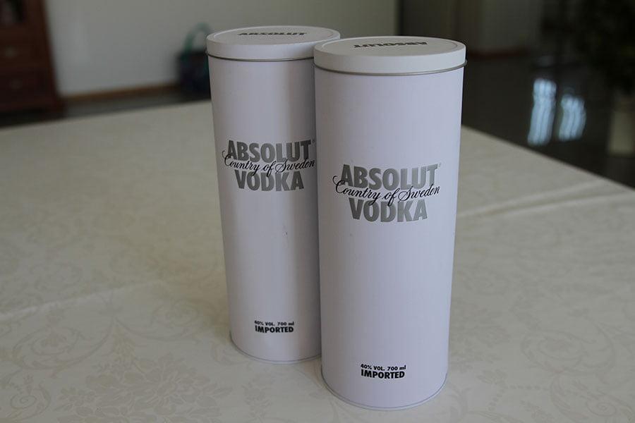 Absolut Tin White 2 x 0,7 liter