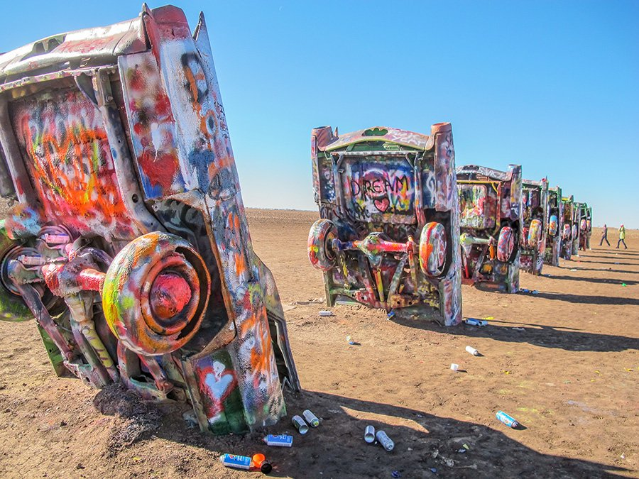 "The ""original"" is Cadillac Ranch."