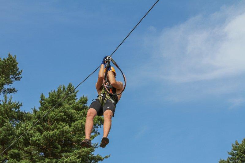 Upzone adventure park Åhus zipline