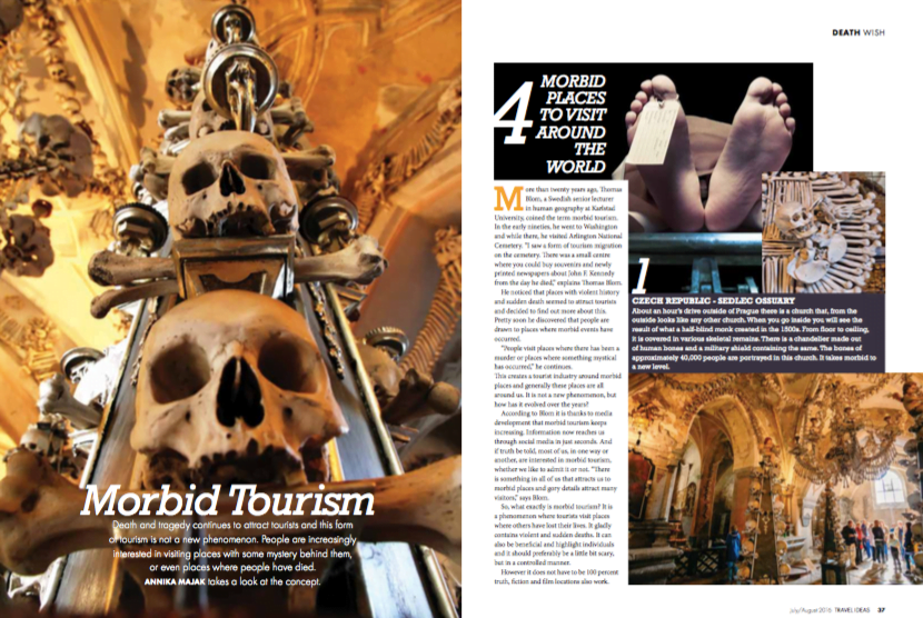 """An article I wrote for Southafrican travel magazine """"Travel Ideas""""."""