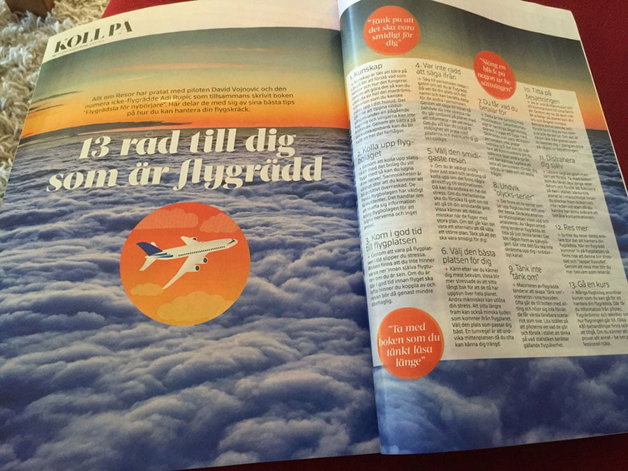 One article is about fear of flying and how you can make yourself a little better :)