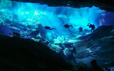 Mexico has awesome Cenotes to scuba dive in