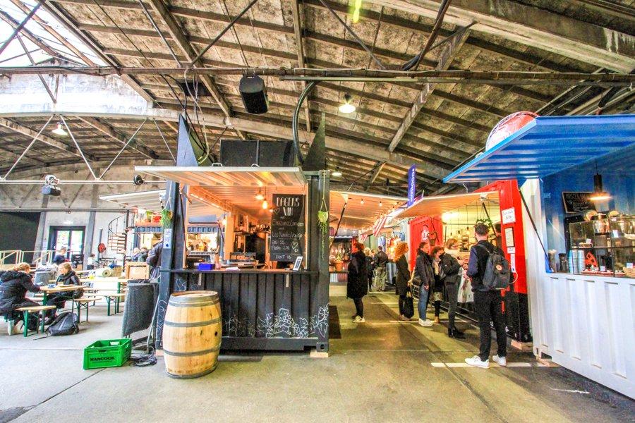 Street food, Food court Aarhus, Denmark