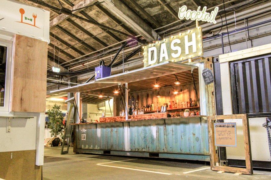 Street food container, Food court Aarhus, Denmark