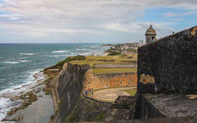 Catching a breeze at Castillo San Cristóbal in Puerto Rico