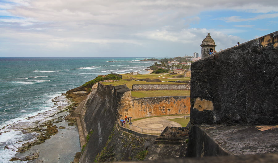 Catching a breeze at Castillo San Cristóbal in Puerto Rico