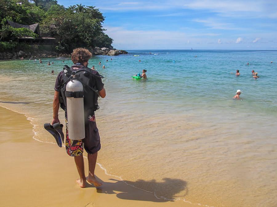 Karon beach diver