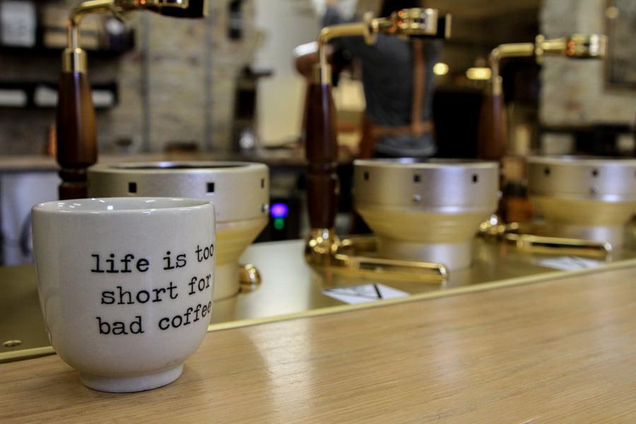 Message on a Coffee mug