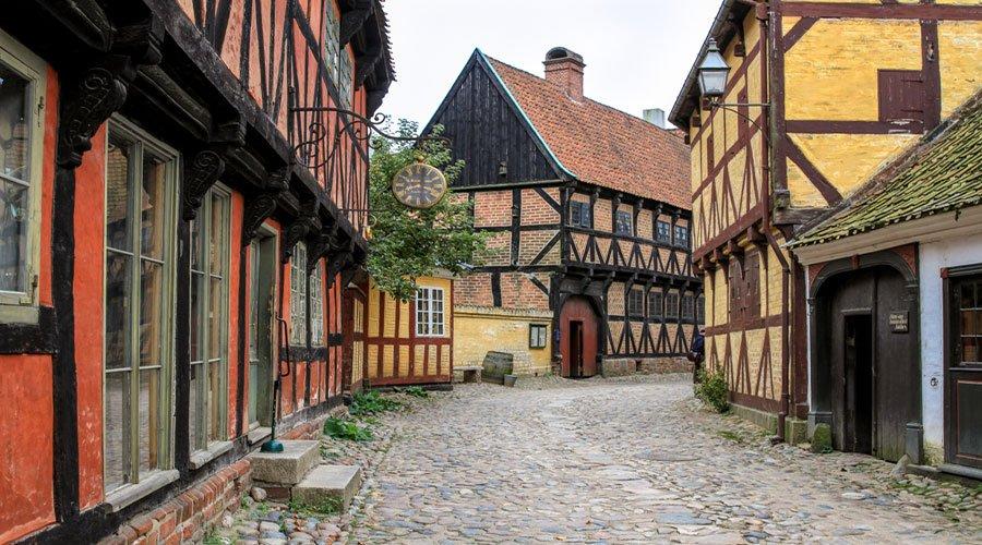 Den gamle by Aarhus, Denmark