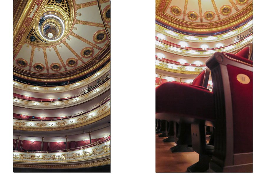 Inside the Opera house in Wroclaw, Poland