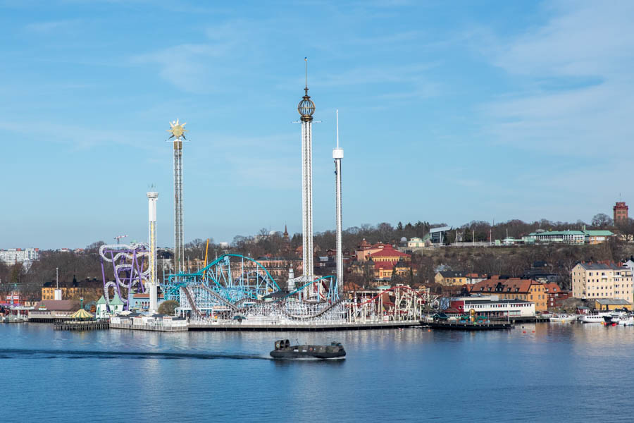 View of Gröna lund skyline