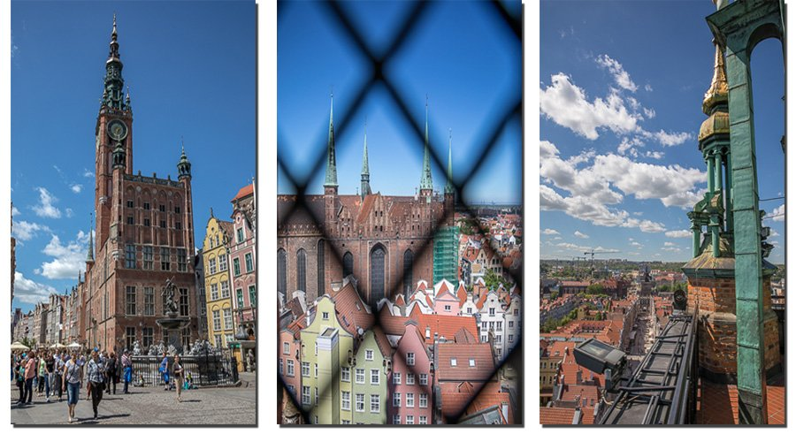 Get an amazing view from the Town Hall in Gdansk, Poland