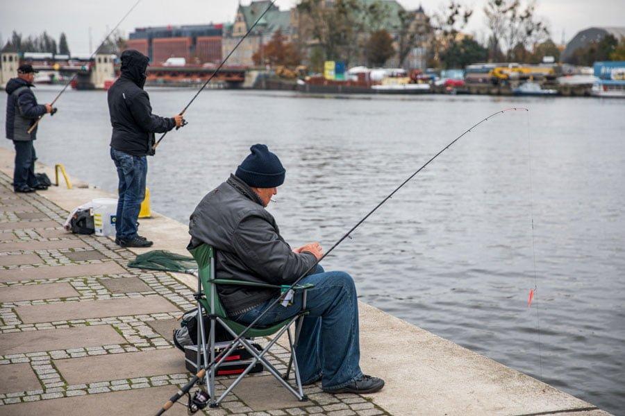 a fisherman in Szczecin
