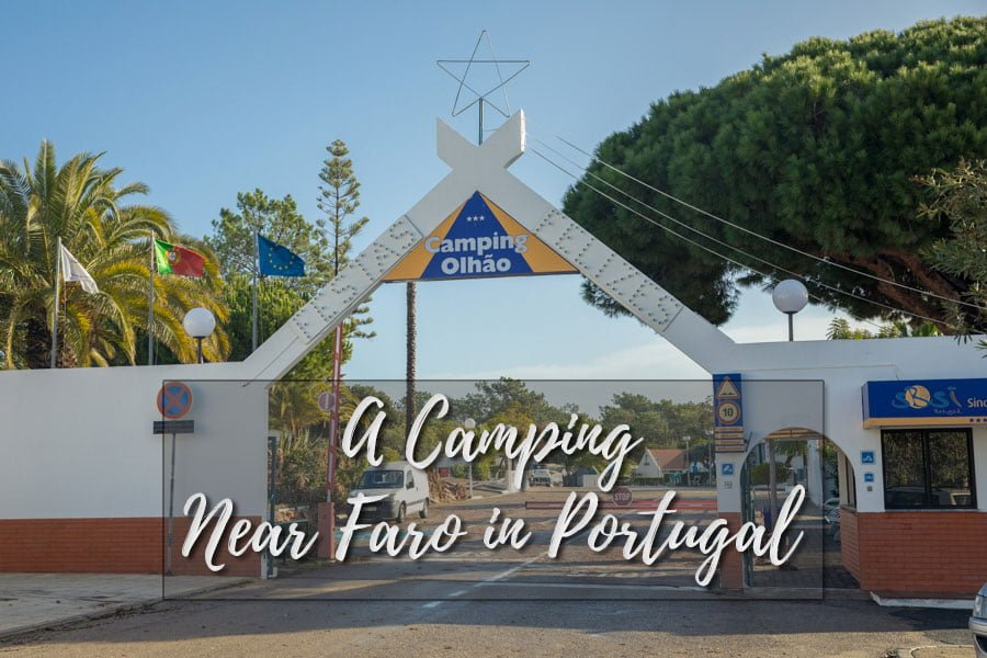 A cheap camping near Faro in Portugal