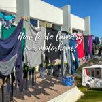 How to do laundry in a motorhome?