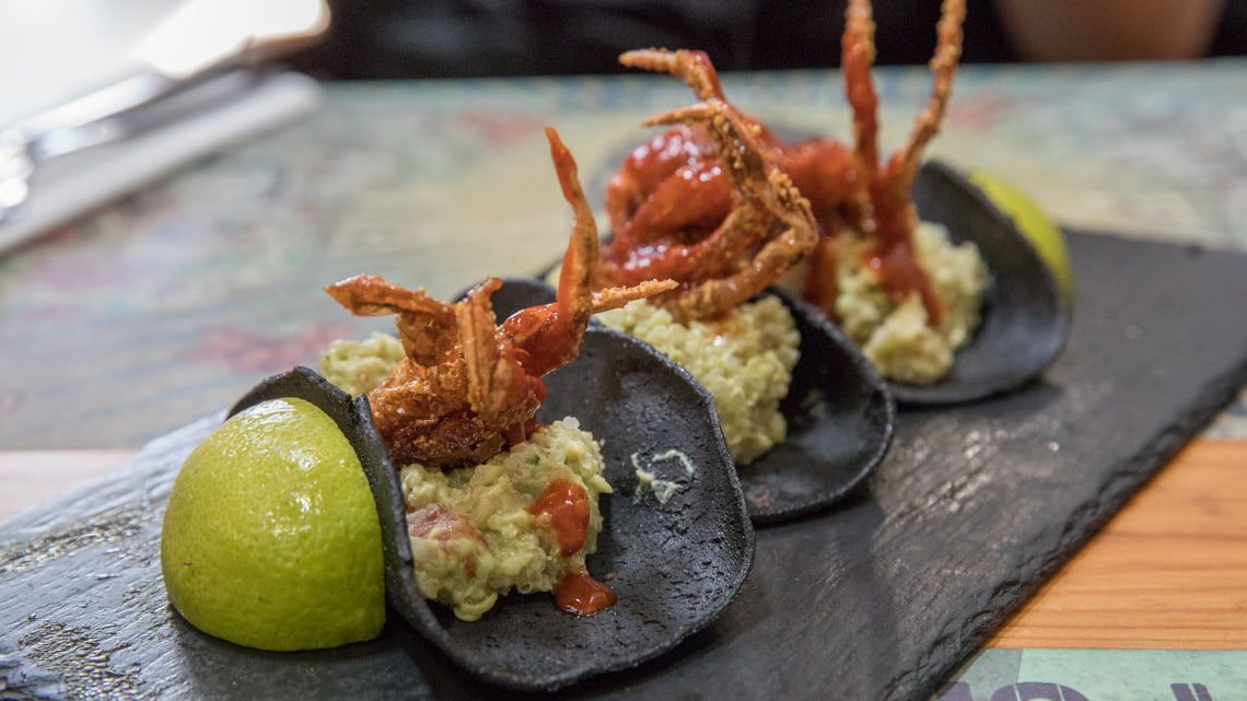 Fried soft shell crab at the Lx factory