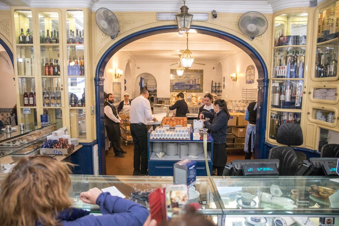 Inside the famous Pasteis De Belem