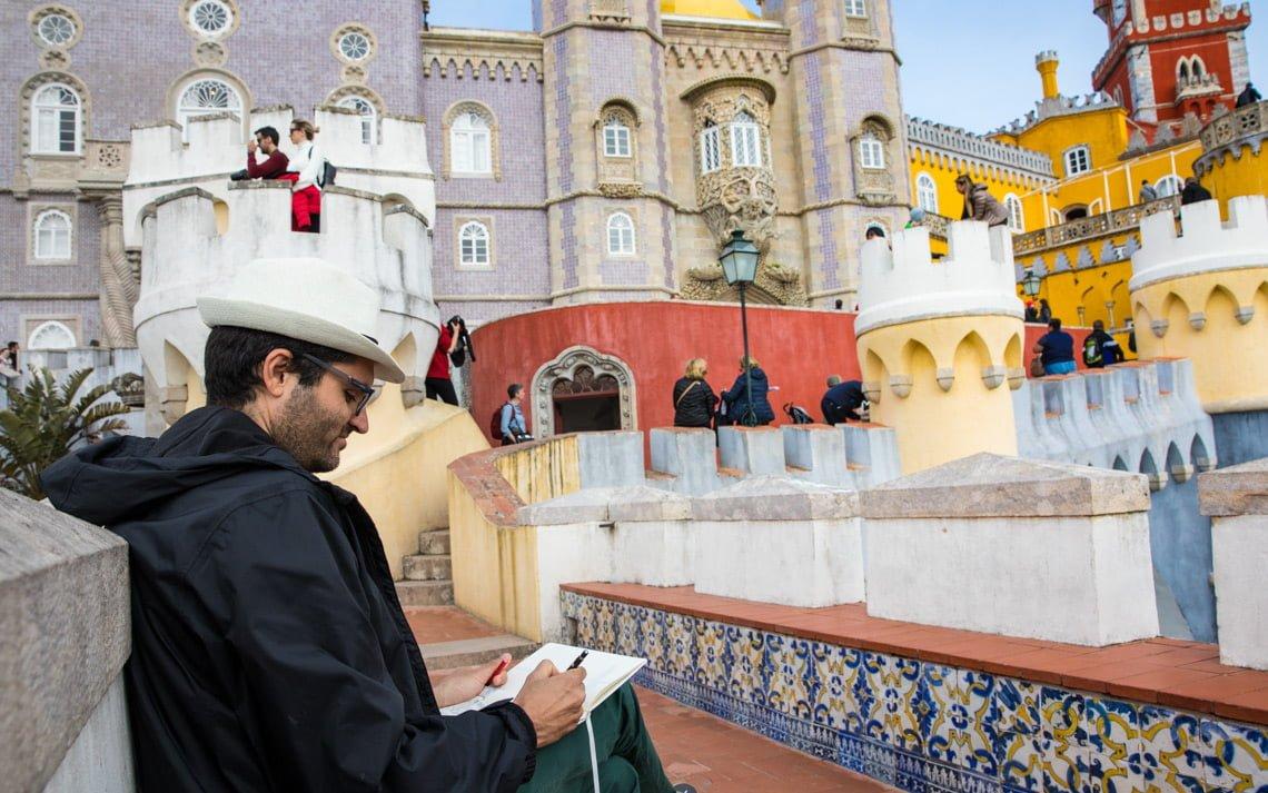 Artist at pena palace