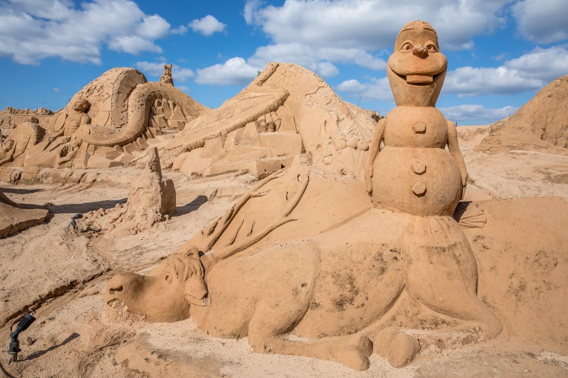 At the sand sculpture festival in Portugal
