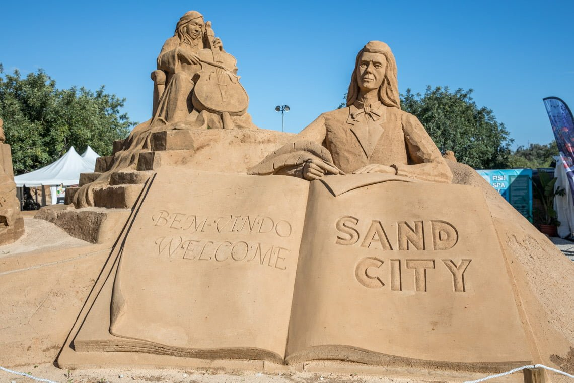 the sand sculpture festival in Portugal