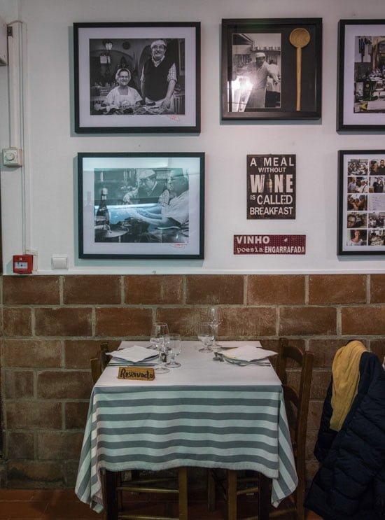 Taberna Tipica Quarta Feira in Evora, Portugal.
